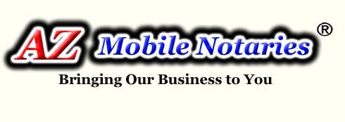 ARIZONA Notaries providing mobile notary public signing agent services to title companies lenders attorneys doctors or anyone in need of a mobile notary public in Maricopa County or elsewhere in Arizona